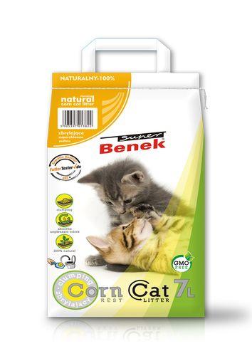 Żwirki kukurydziane dla kota